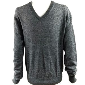 Tasso Elba Silk Cashmere Men's Knit Grey Sweater M